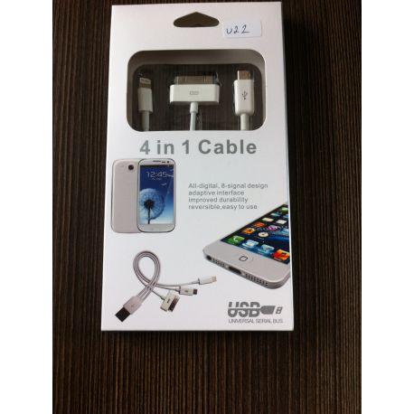 USB кабел 4 в 1 Безплатна Доставка За София!!!
