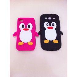 Детски гумен протектор Пингвин  за Iphone 4/4s