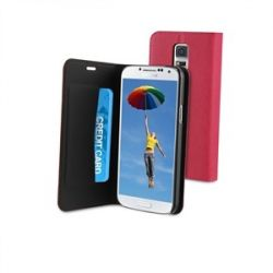 КОЖЕН КАЛЪФ WALLET  - РОЗОВ за SAMSUNG GALAXY S5 MINI