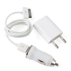3 in 1/USB / AC / зарядно за кола адаптери за  iPhone 4/4s