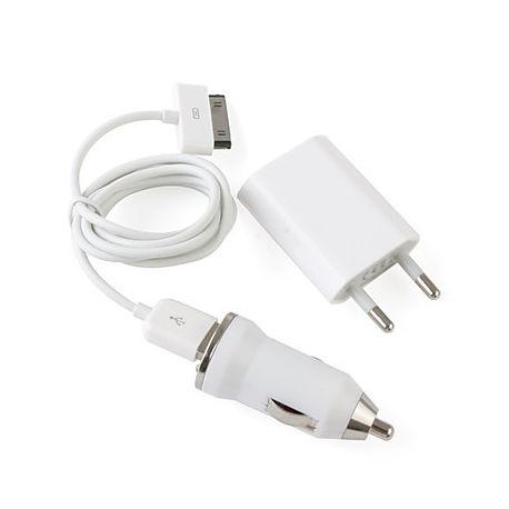 3 in 1/USB / AC / зарядно за кола адаптери за  iPhone