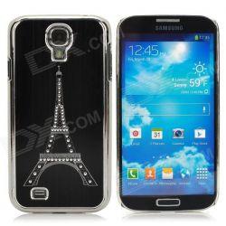 Алуминиев гръб  (Eiffel Tower) за Samsung Galaxy S4 / i9500 - Черно