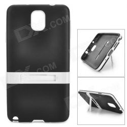 Силиконов калъф/ Стойка за Samsung Galaxy Note 3 - Черно + White