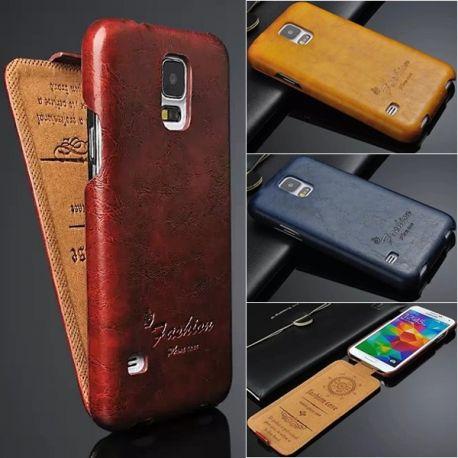 Кожен калъф тип флип за Samsung Galaxy S5  (различни цветове)