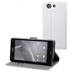 MFX бял Wallet калъф за Xperia Z3