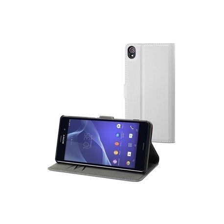 MFX кожен калъф Wallet white Xperia Z3